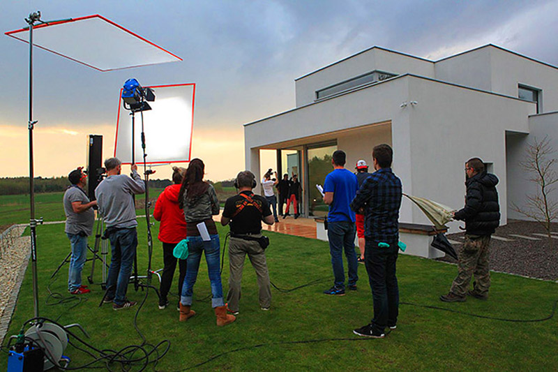 """Dom EKO. Projekt: BXBstudio Bogusław Barnaś / Zdjęcia z planu programu """"Domy Przyszłości"""""""
