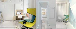 Ispot – Futurystyczny mini-apartament projektu pracowni Mobius Architekci