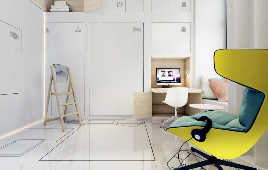 Wnętrza apartamentu. Projekt: Mobius Architekci | Przemek Olczyk