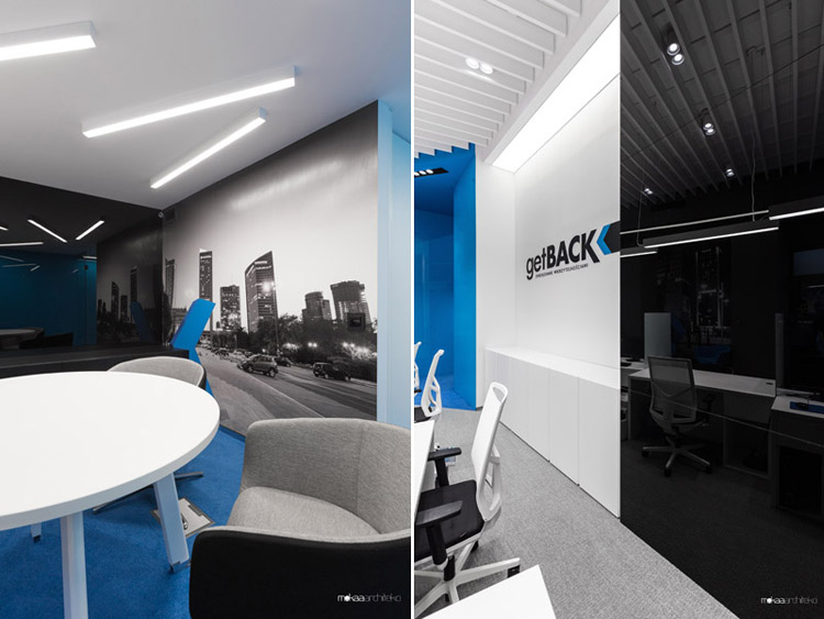 Wnętrza biur firmy getBACK, Warszawa. Projekt: Mokaa Architekci. Zdjęcia: Przemek Kuciński   Niewformie Studio