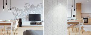 Wnętrza mieszkania z modną mozaiką projektu studia 081 Architekci