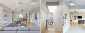 """Wnętrza domu """"oplecione"""" lampami projektu pracowni 81.WAW.PL"""