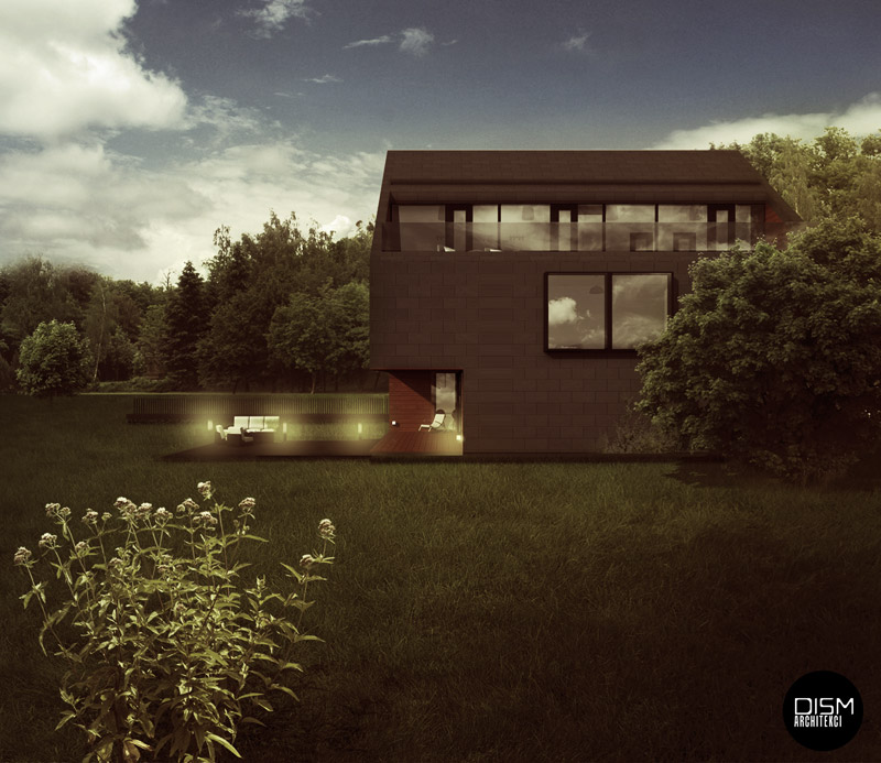 Dom Dwuspadowy. Projekt: DISM Architekci