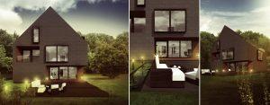 Dom Dwuspadowy projektu studia DISM Architekci