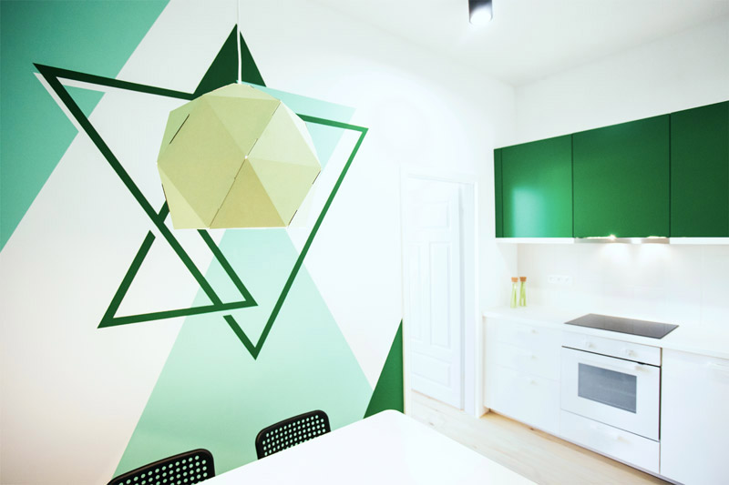 Mieszkanie dla studentów w kamienicy. Projekt wnętrz: Ktura Architekci | Katarzyna Buczkowska