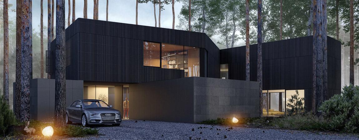 Dom WIND – ukryta w lesie willa projektu studia Mobius Architekci