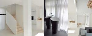 Białe i skromne wnętrza domu w Wolsztynie projektu studia PULVA