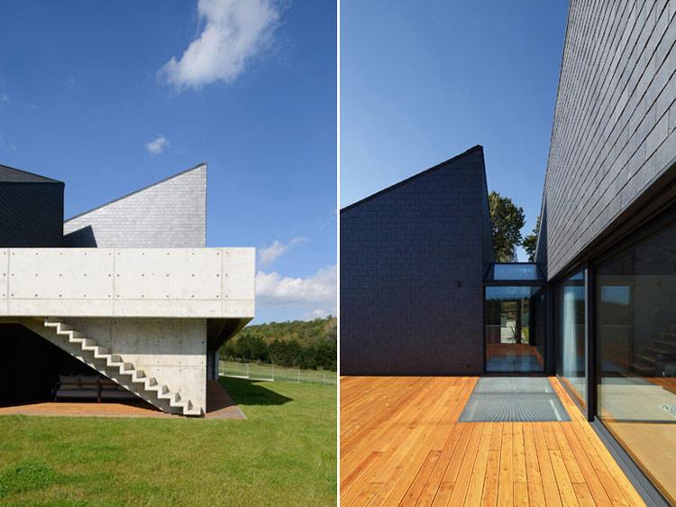 Dom w Krostoszowicach. Projekt: RS+ Robert Skitek. Zdjęcia budynku: Archifolio | Tomasz Zakrzewski