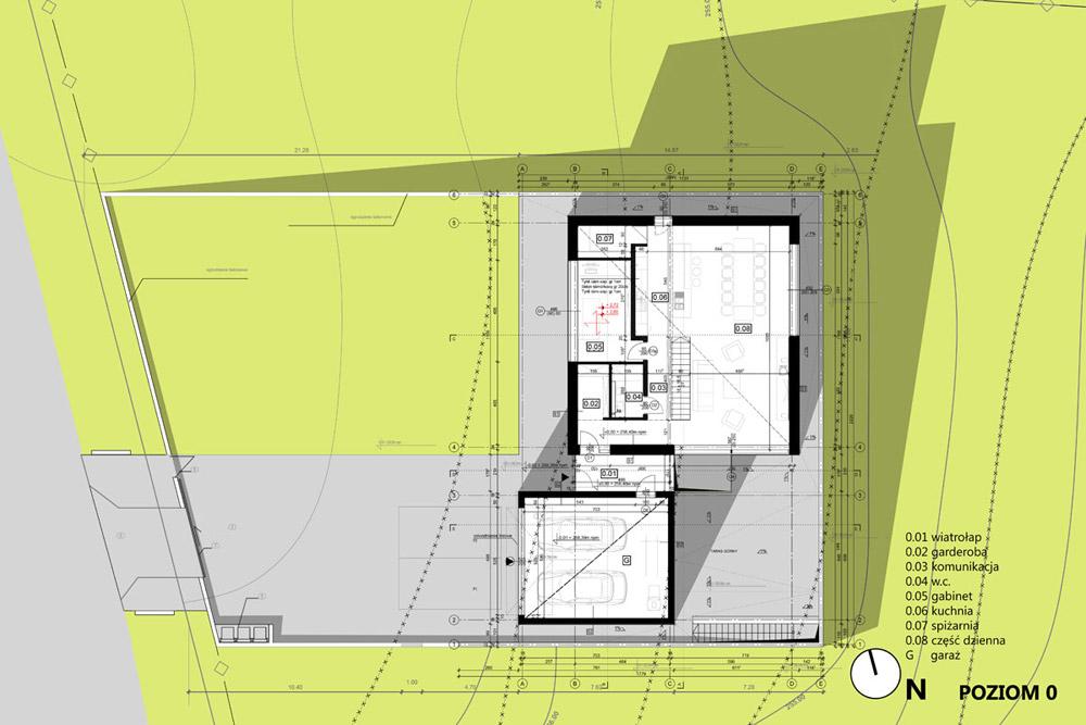 Dom w Krostoszowicach. Projekt: RS+ Robert Skitek