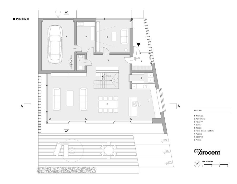 Dom H, Wrocław. Projekt: STOPROCENT Architekci