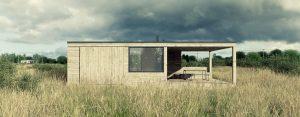 Dom na łące – prosty i funkcjonalny domek letniskowy projektu studia Też Architekci