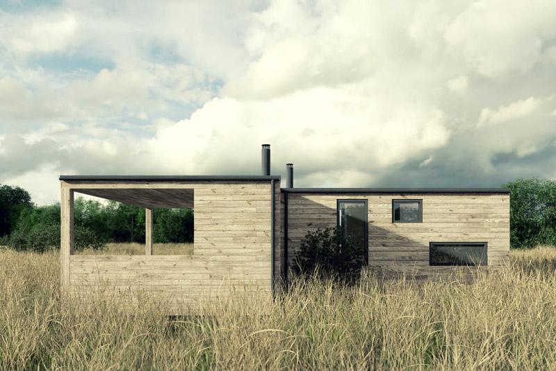 Dom na łące. Projekt: Też Architekci