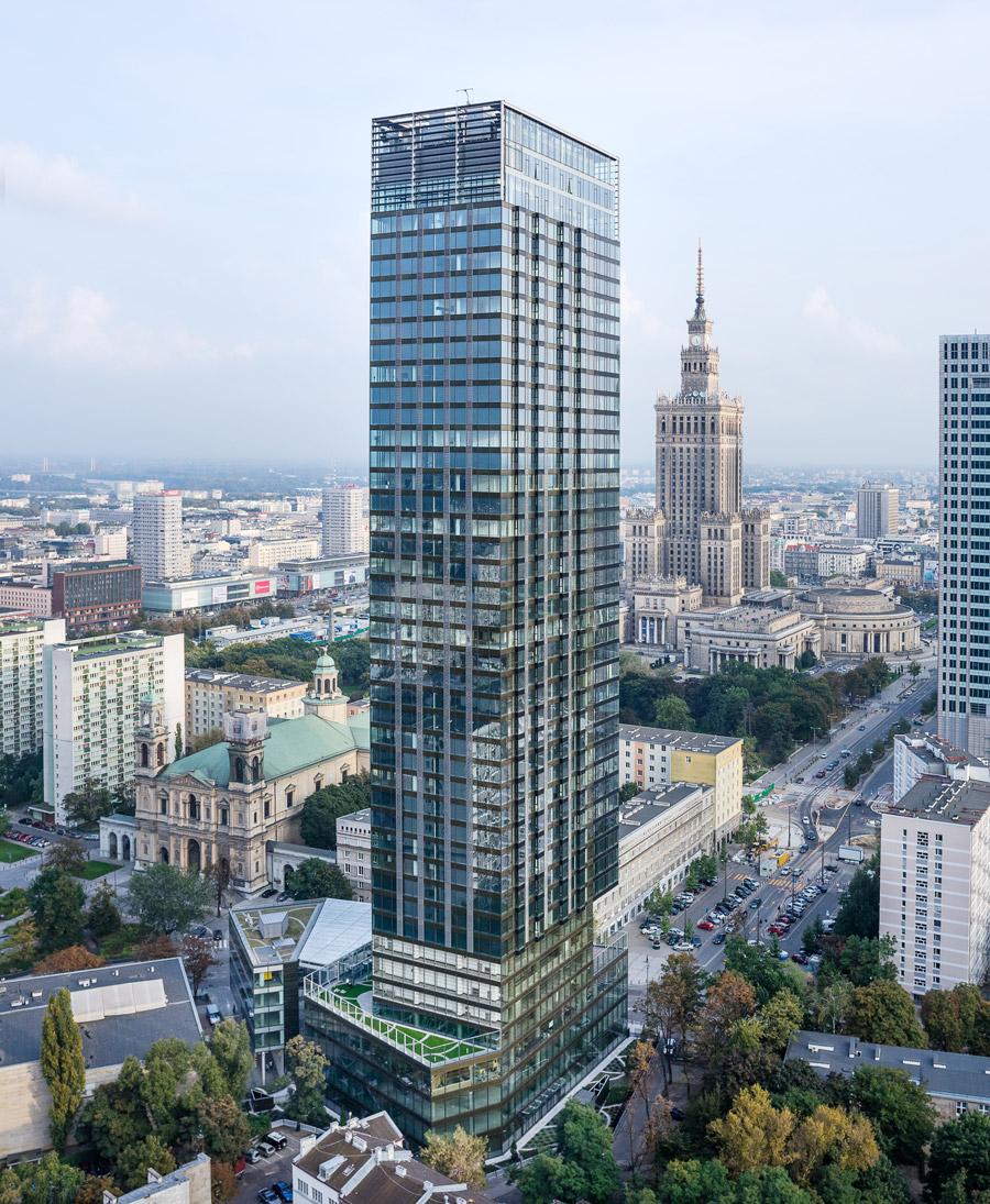 Cosmopolitan, Warszawa. Projekt: Helmut Jahn