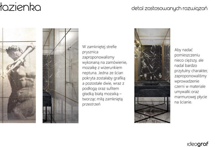 Wnętrza apartamentu w kamienicy, Gdańsk. Projekt: Biuro Architektoniczne Ideograf