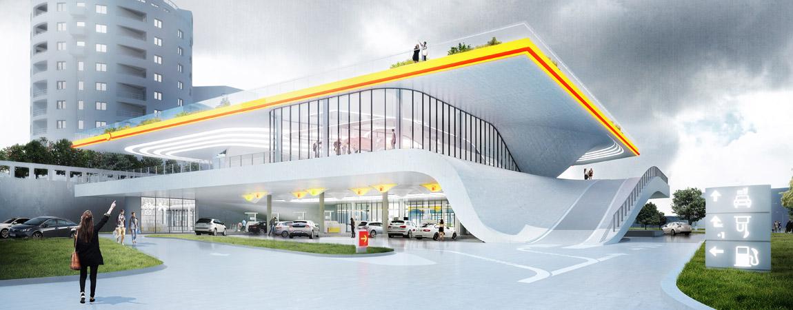 Stacja Paliwowa Przyszłości – projekt Polaków nominowany do Nagrody na Najlepszy Budynek Świata