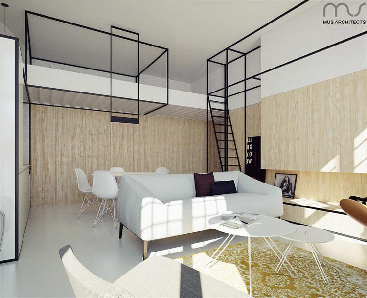 Apartament pod Wawelem w Krakowie. Projekt wnętrz: MUS Architects