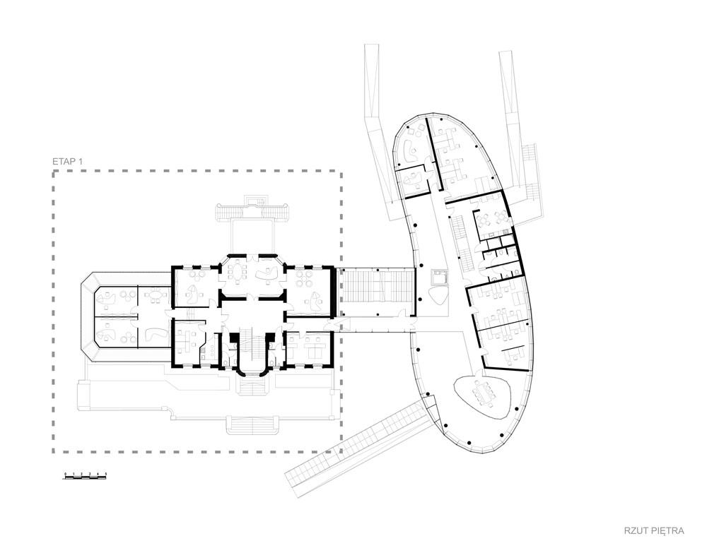 Kompleks biurowy AQUARIUM w Gliwicach - Rewitalizacja Willi Neumanna Autorzy. Projekt: Zalewski Architecture Group