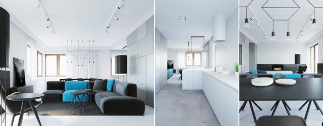 Mieszkanie w odcieniach szarości – wnętrza projektu studia 081 Architekci