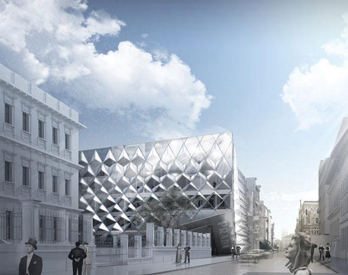 Dyplomy Architektury: Dom Mody Prada w Warszawie projektu Aleksandra Łapińskiego