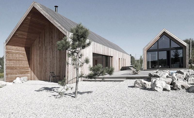 """Dom """"The House"""" w Chruszczobrodzie. Projekt: Górnik Architects"""