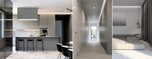 Wnętrza domu jednorodzinnego projektu studia Hi-Light Architects