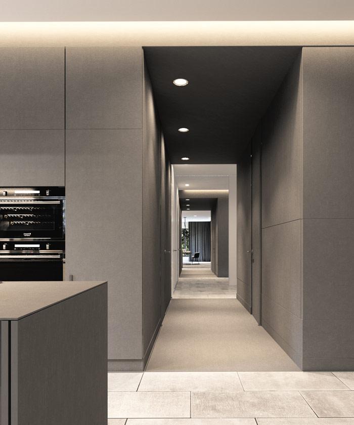 Wnętrza domu jednorodzinnego. Projekt: Hi-Light Architects