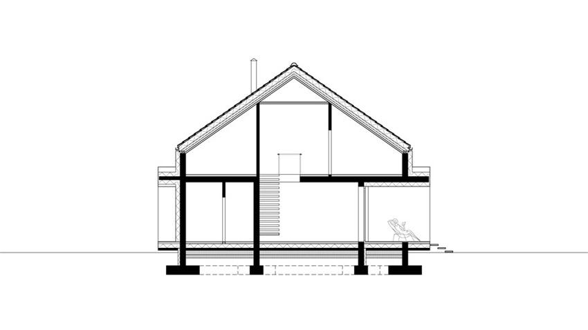 Dom jednorodzinny w Sosnowcu. Projekt: Jagiełło Krysiak Architekci | Marcin Jagiełło, Jarek Krysiak