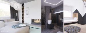 Wnętrza domu z hamakiem, huśtawką i ścianką wspinaczkową projektu MAKA Studio