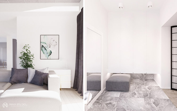 Wnętrza domu jednorodzinnego. Projekt: MAKA Studio