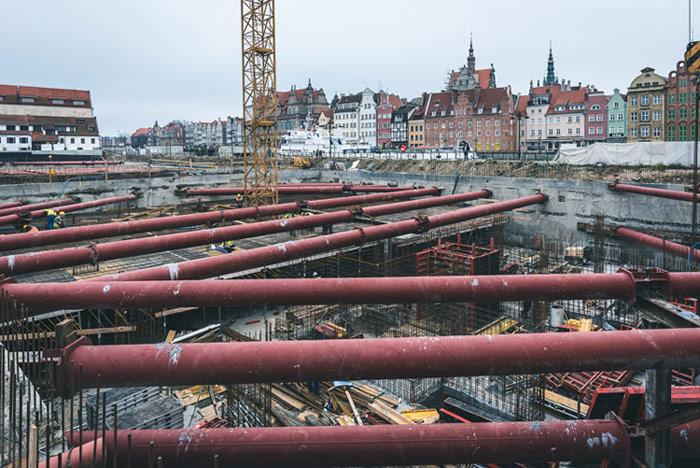 Kompleks wielofunkcyjny Deo Plaza w Gdańsku. Zdjęcia z budowy.