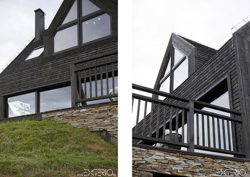 Dom nad jeziorem w Pieninach. Projekt: EXTERIO Architektura