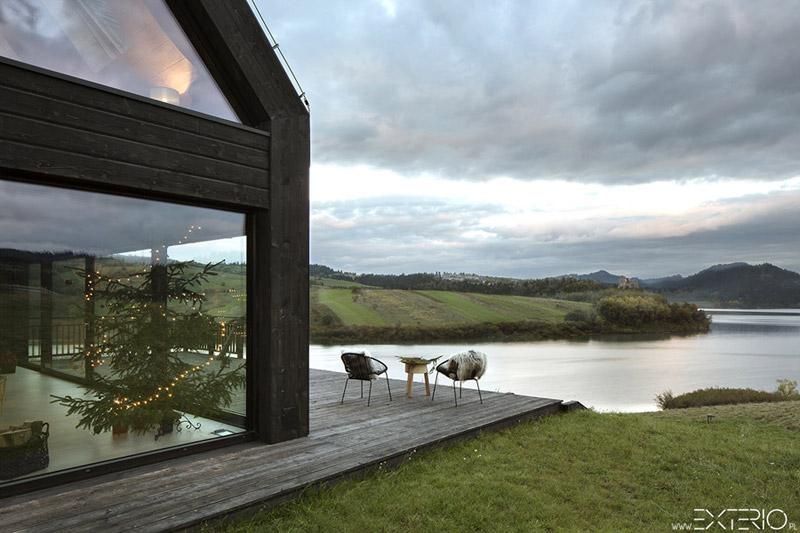 dom letniskowy nad jeziorem czorszty skim projektu studia exterio. Black Bedroom Furniture Sets. Home Design Ideas