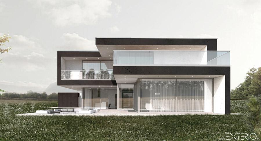 Rezydencja na wzgórzu. Projekt: EXTERIO Architektura