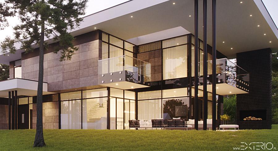 Rezydencja w Przemyślu. Projekt: Pracownia Architektoniczna EXTERIO