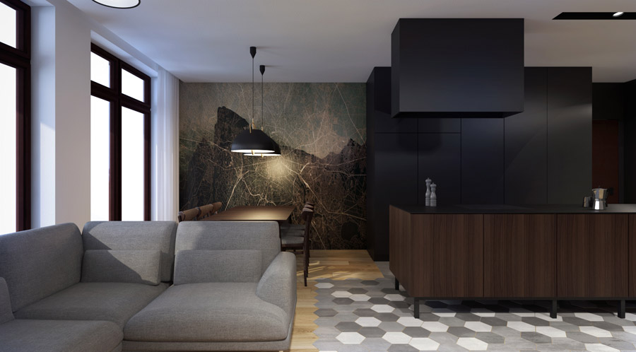 Mieszkanie w Warszawie: Projekt wnętrz: MOOMOO Architects