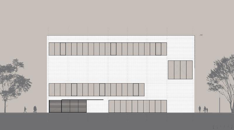 Zespół sal gimnastycznych we Wrocławiu. Projekt: arch_it | Piotr Zybura