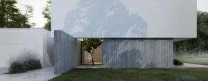 Połączenie bieli i betonu – Minimalistyczny projekt domu pracowni MOOMOO Architects