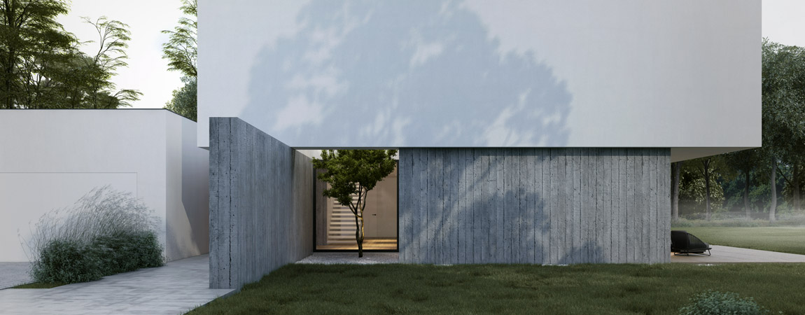 Minimalistyczny projekt domu pracowni MOOMOO Architects