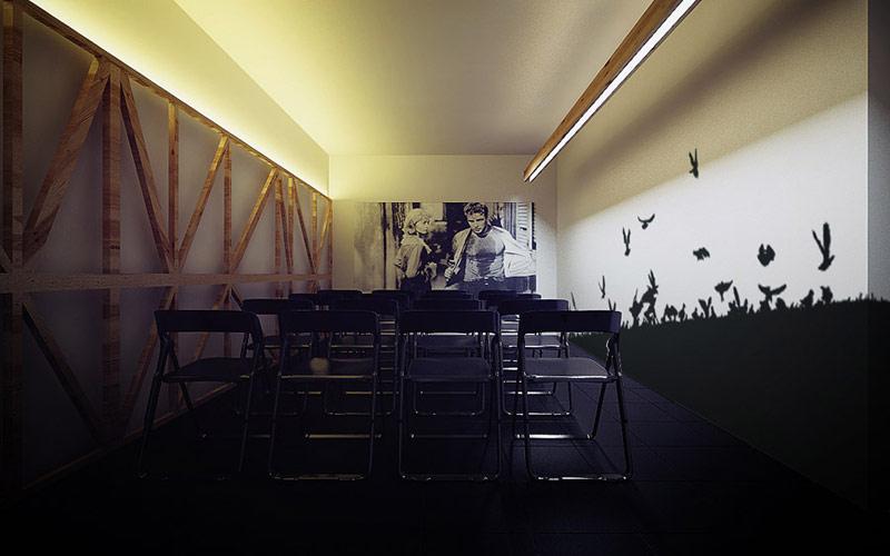 """Restauracja i klubokawiarnia """"Drzwi Zwane Koniem"""", Katowice. Projekt wnętrz: MUS ARCHITECTS"""