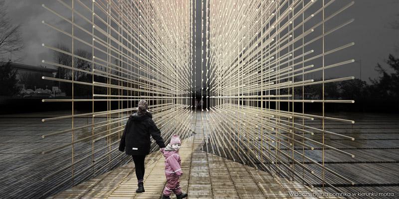 Pomnik Polski Morskiej w Gdyni. Autorzy: R3D3 + Pracownia 111. Współpraca: artysta rzeźbiarz Igor Duszyński