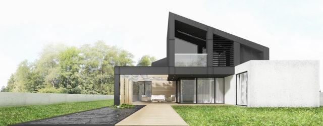 Dom z drewna, blachy i betonu projektu Pracowni Architektury Symetria