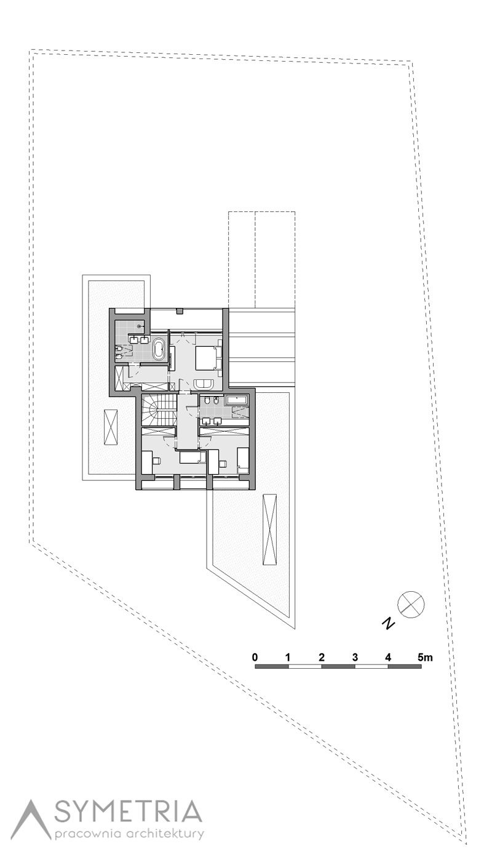 Dom z drewna, blachy i betonu. Projekt: Pracownia Architektury Symetria