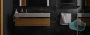 Eleganckie połączenie czerni i drewna – wnętrza domu w Rybniku projektu Spacja Studio