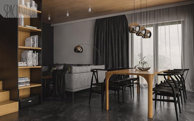 Wnętrza domu w Rybniku. Projekt: Spacja Studio
