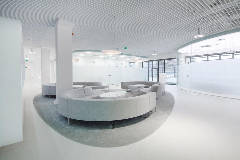 Przestrzeń wystawienniczo-konferencyjna GE Customer Experience Center. Projekt: Zalewski Architecture Group