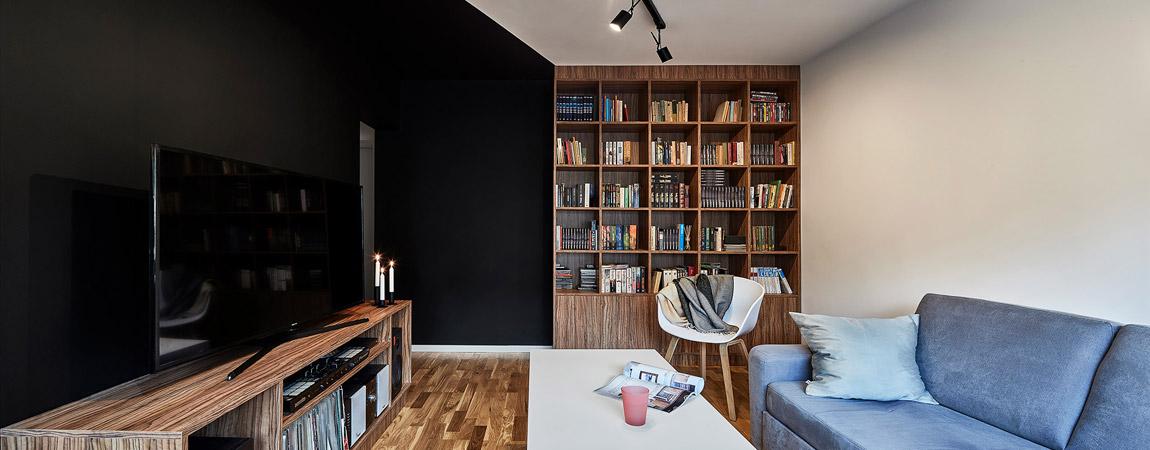 """Wnętrza mieszkania """"Triangle Flat"""" w Łodzi. Projekt: 3XEL BIURO PROJEKTOWE"""