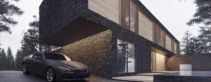 Dom Leśny – będący w trakcie realizacji projekt domu pracowni 81.WAW.PL