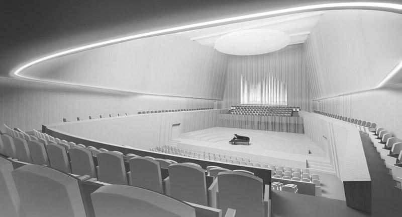 Akademia Muzyczna w Krakowie. Wyróżnienie honorowe w konkursie: Artur Jasiński i Wspólnicy Biuro Architektoniczne