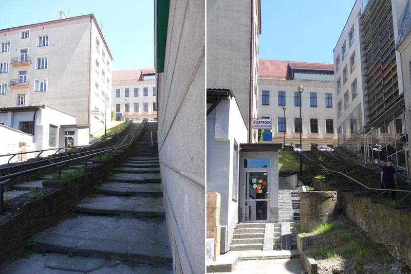 Schody na ulicy Śliskiej w Krakowie. Autorzy projektu: arch_it | Piotr Zybura