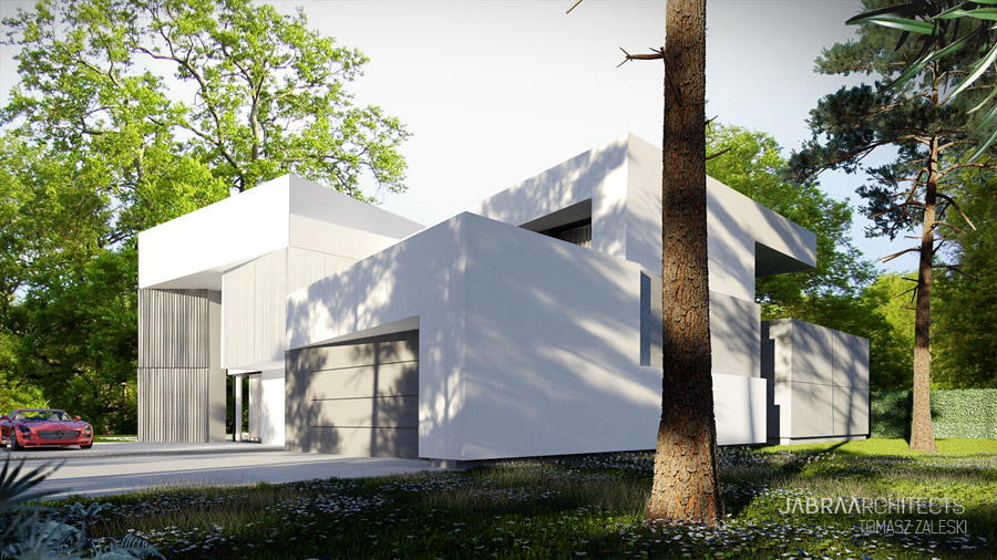Light House - Projekt domu pod Wrocławiem studia JABRAARCHITECTS